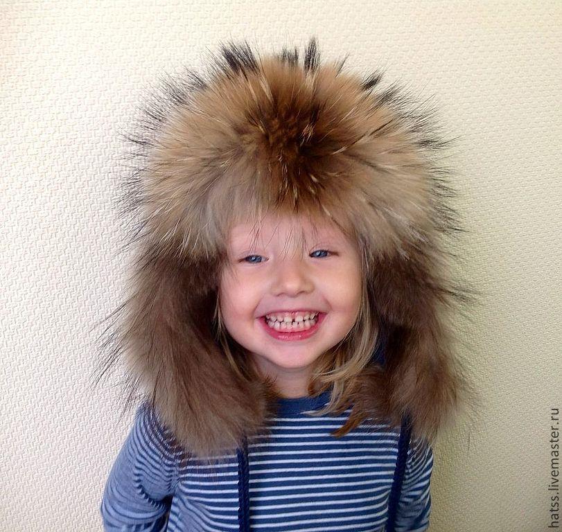 Меховые шапочки для детей