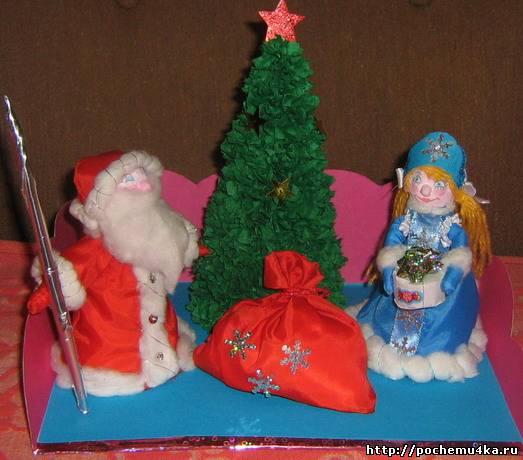 Дед мороз из дисков своими руками
