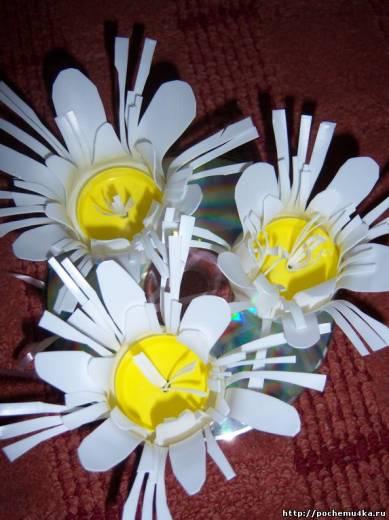 Цветы поделка из подручных материалов 21