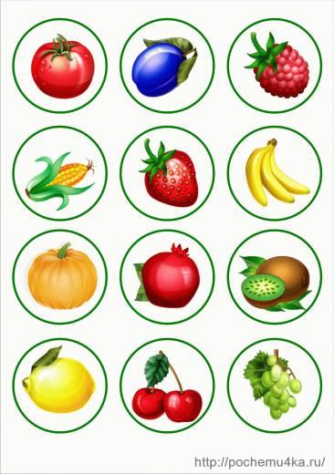 Картинки фруктов и ягод и овощей