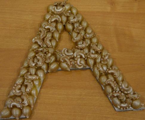 Как сделать буквы из макарон своими руками 52
