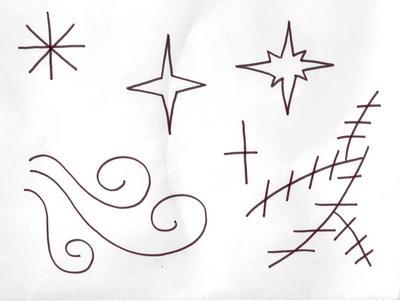 рисунок звездочки: