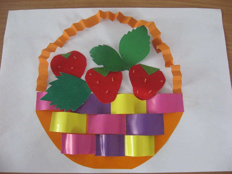 фрукты из цветной бумаги аппликация