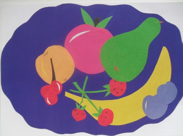 восстанавливает фрукты из цветной бумаги аппликация опубликовали карты