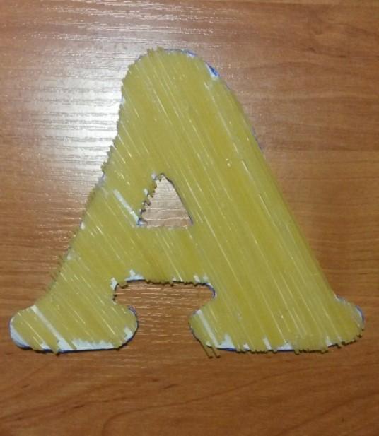 Как сделать буквы из макарон своими руками 63