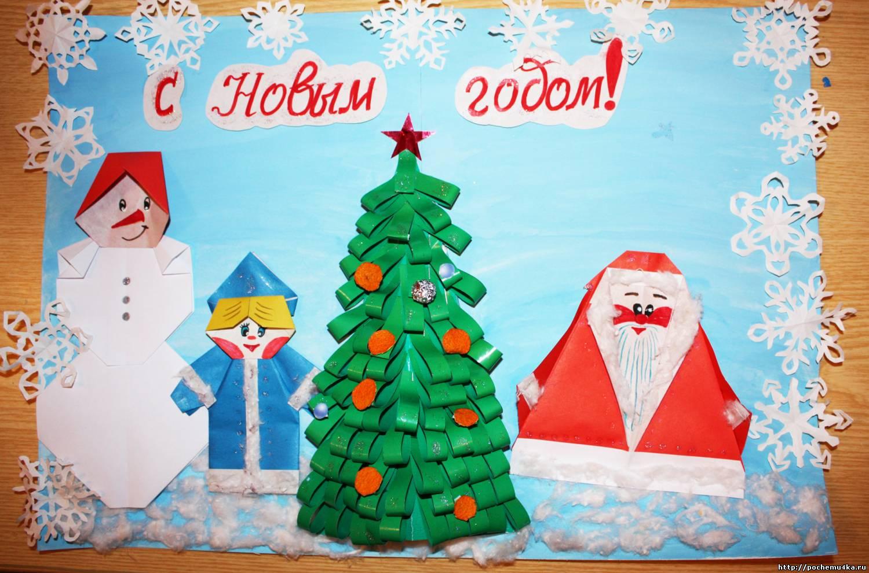 Новогодние открытки с дед морозом для детей