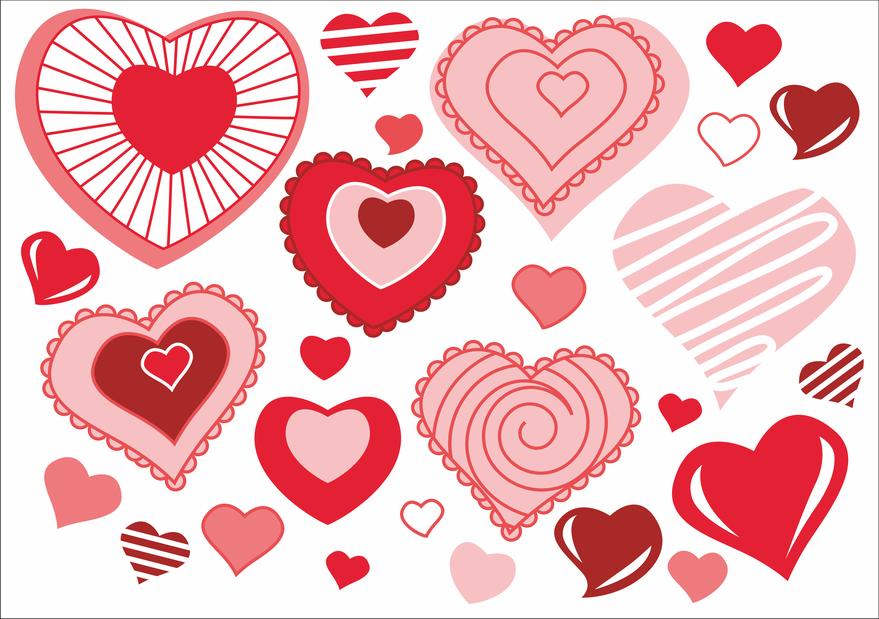 Разные формы сердечек картинки