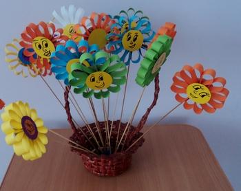 Букеты из цветов для детей своими руками