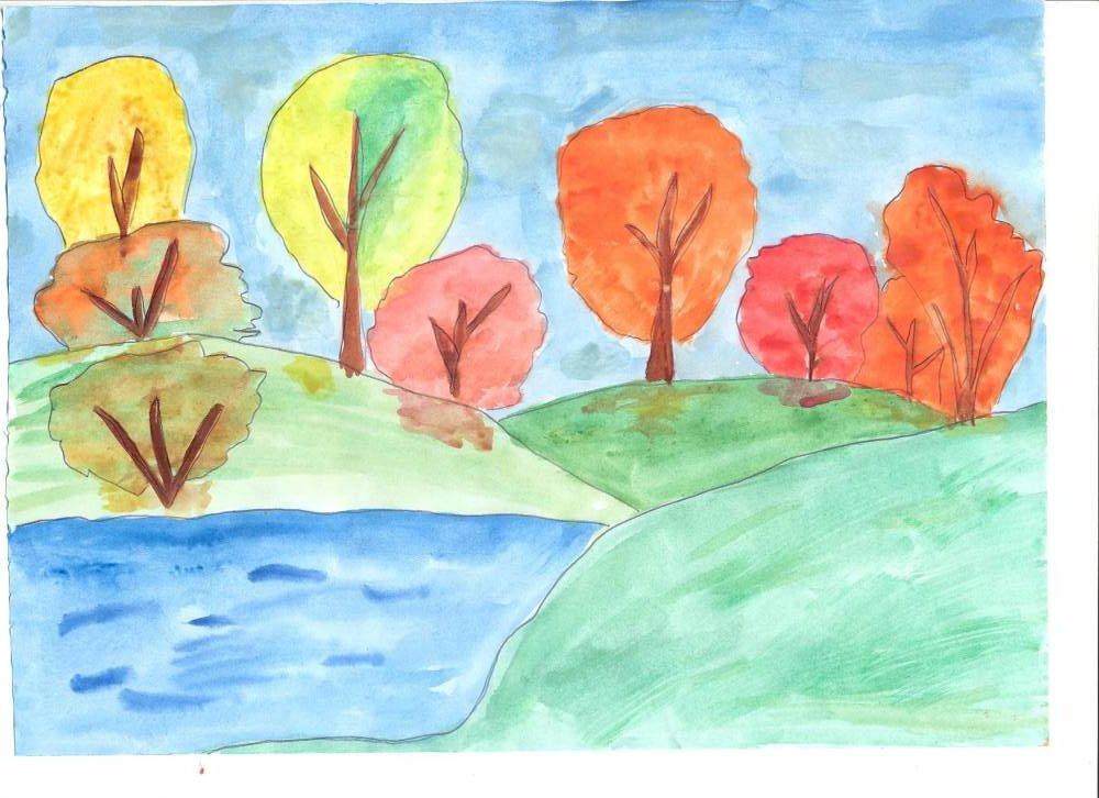 рисунок здравствуй осень главным украшением станет