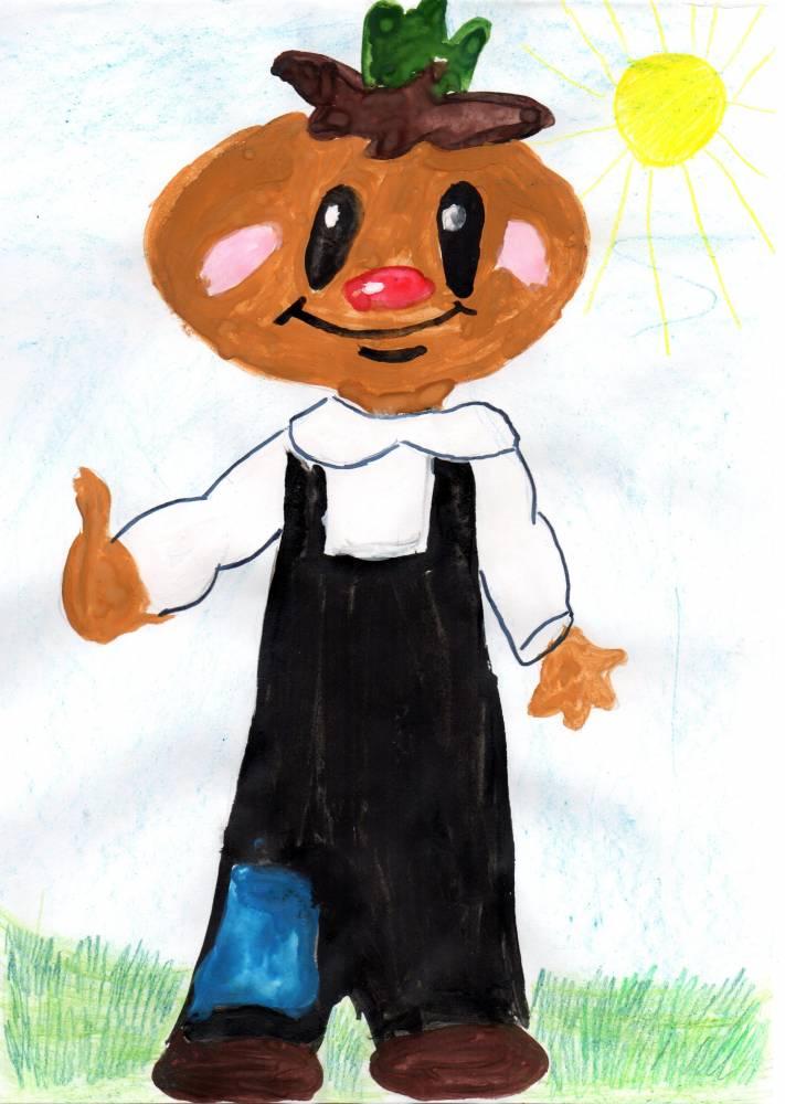 Детские рисунки к чиполлино