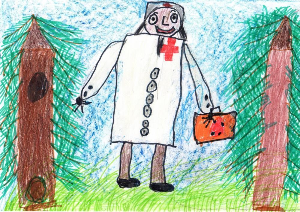 Картинки доктор айболит нарисовать