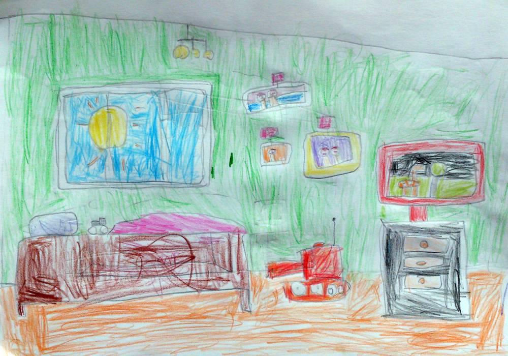 моя комната картинки для рисования тоже