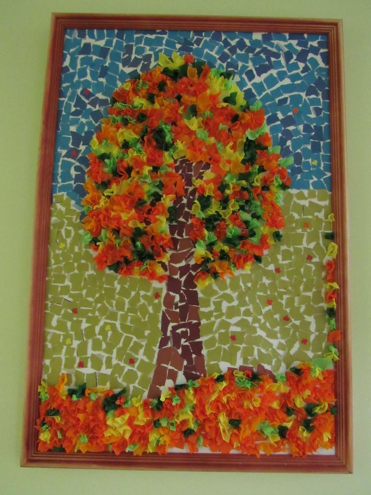 Поделки осень своими дерево осенние 19