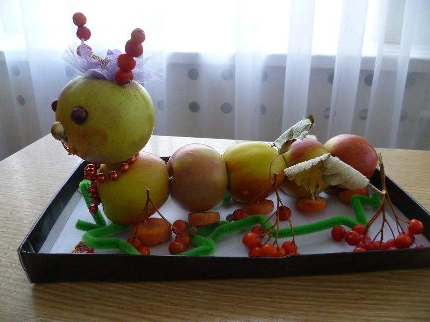 Поделка из яблок простое 111
