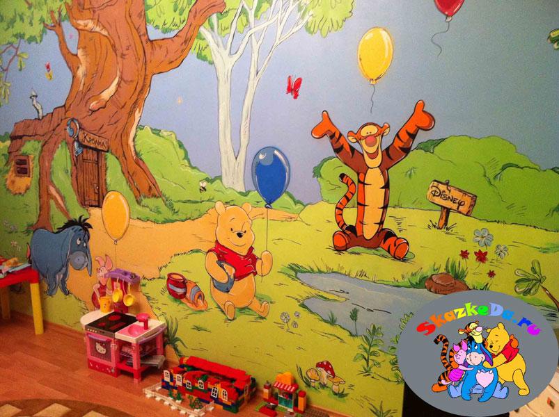 рисунок в детскую комнату на стену фото