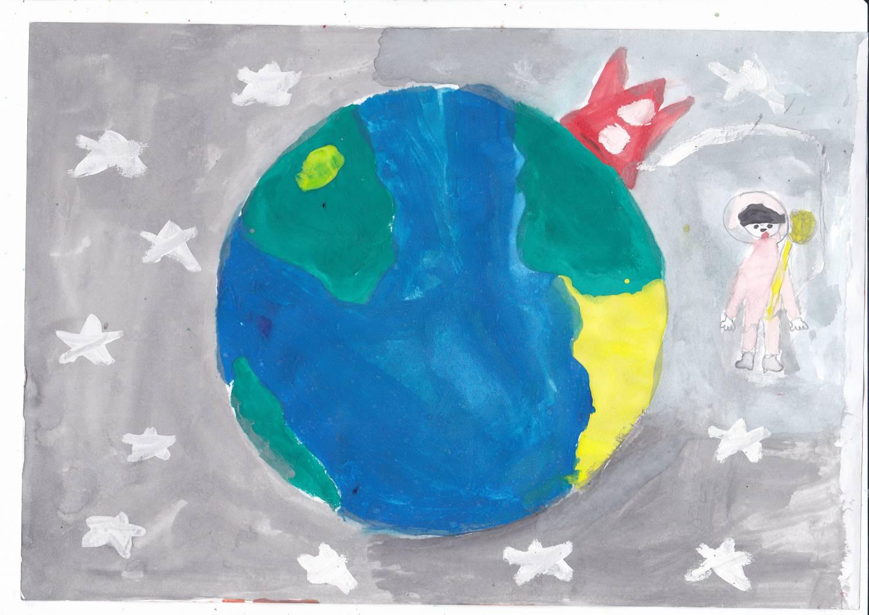 первую рисунки моя планета земля такие как